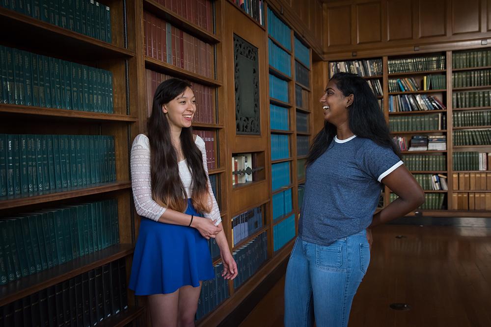 Caltech's IHC Chair Rachael Morton (left) with Sakthi Vetrivel, president of ASCIT