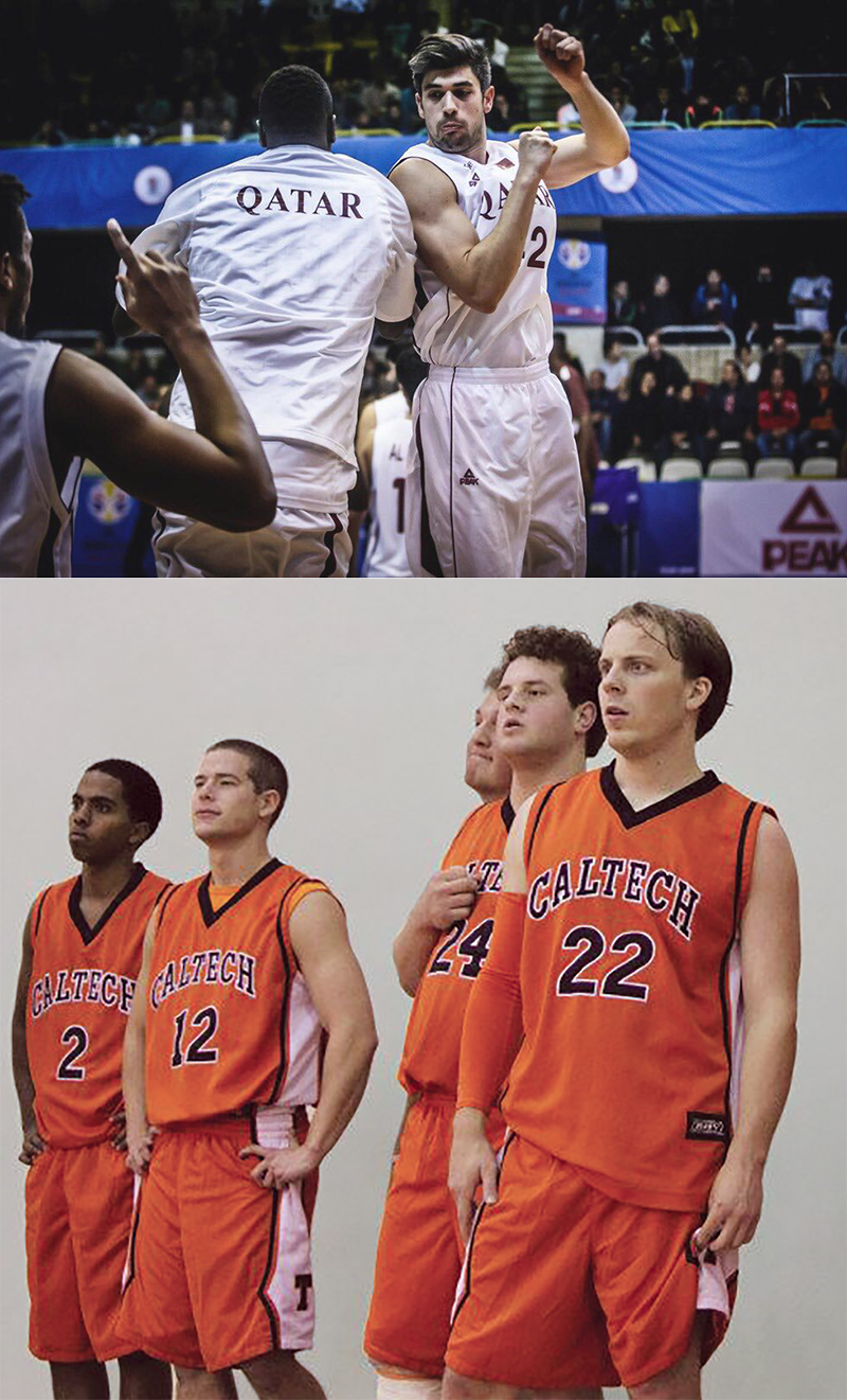 Nasser Al-Rayes (top)and Collin Murphy (bottom, #22).