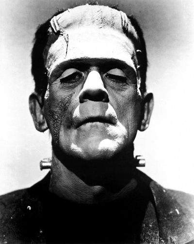 Promotional photo of Boris Karloff from  The Bride of Frankenstein .