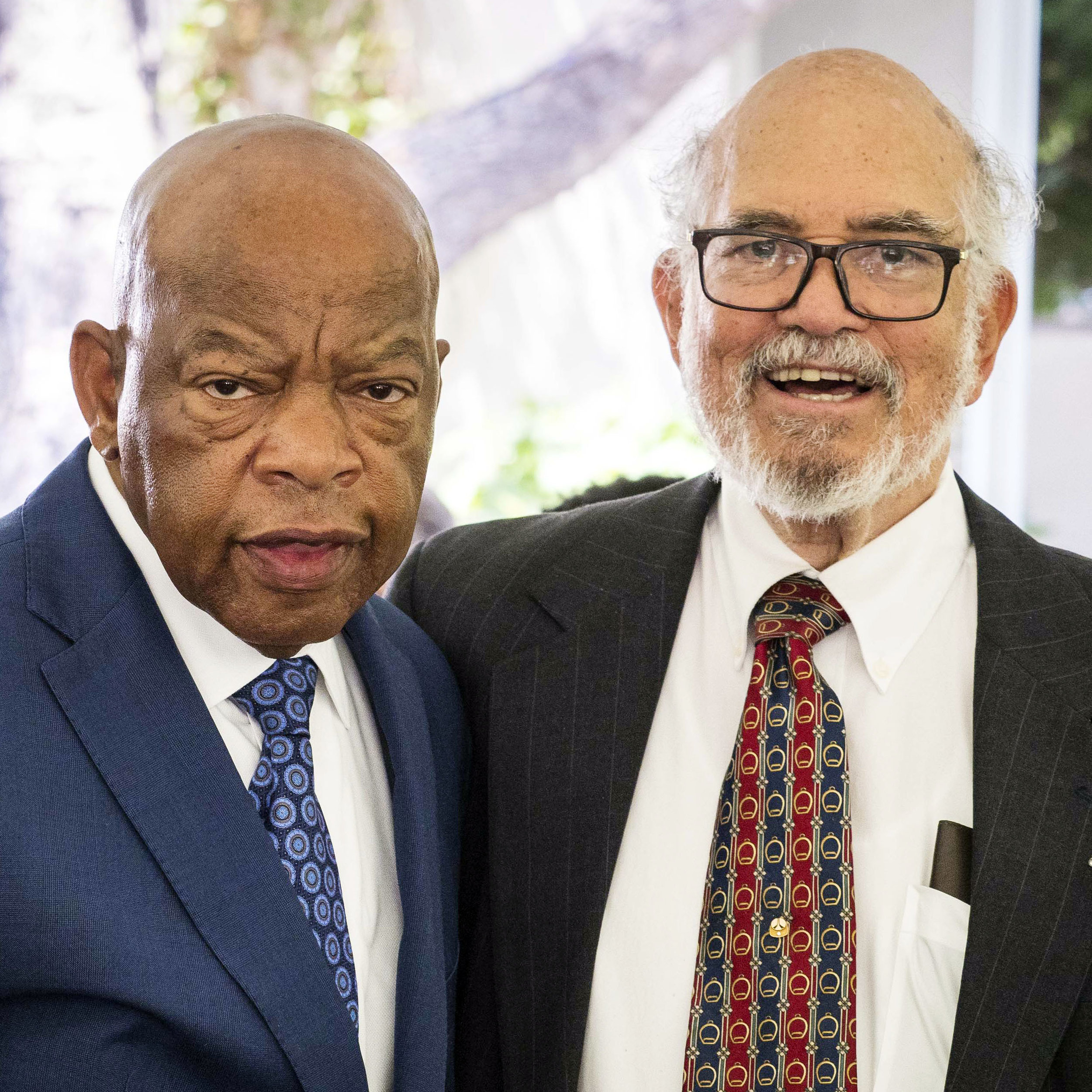 Hutchinson was a guest at the luncheon held for Rep. John Lewis after the U.S. Congressman's speech at Caltech's June 15, 2018, commencement.