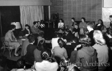 When Dr. Martin Luther King Jr. visited Caltech in 1958, Hutchinson was among the students who met with the civil rights leader, though his meeting with King took place at the Caltech Y, with no photographers present.