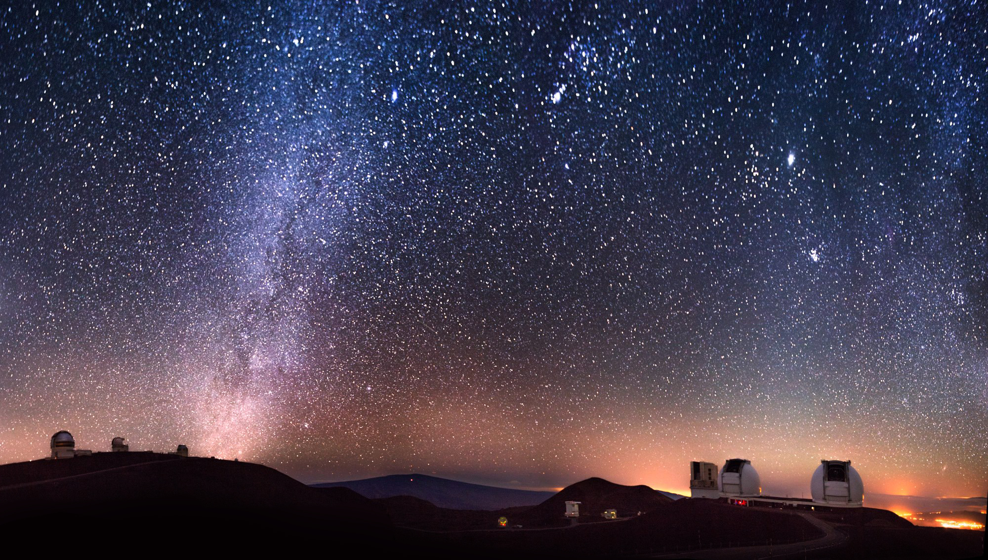 The Keck telescopes atop Maunakea.