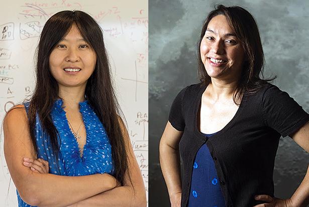 Doris Tsao (BS '96, left) and Sarah Stewart (PhD '02)