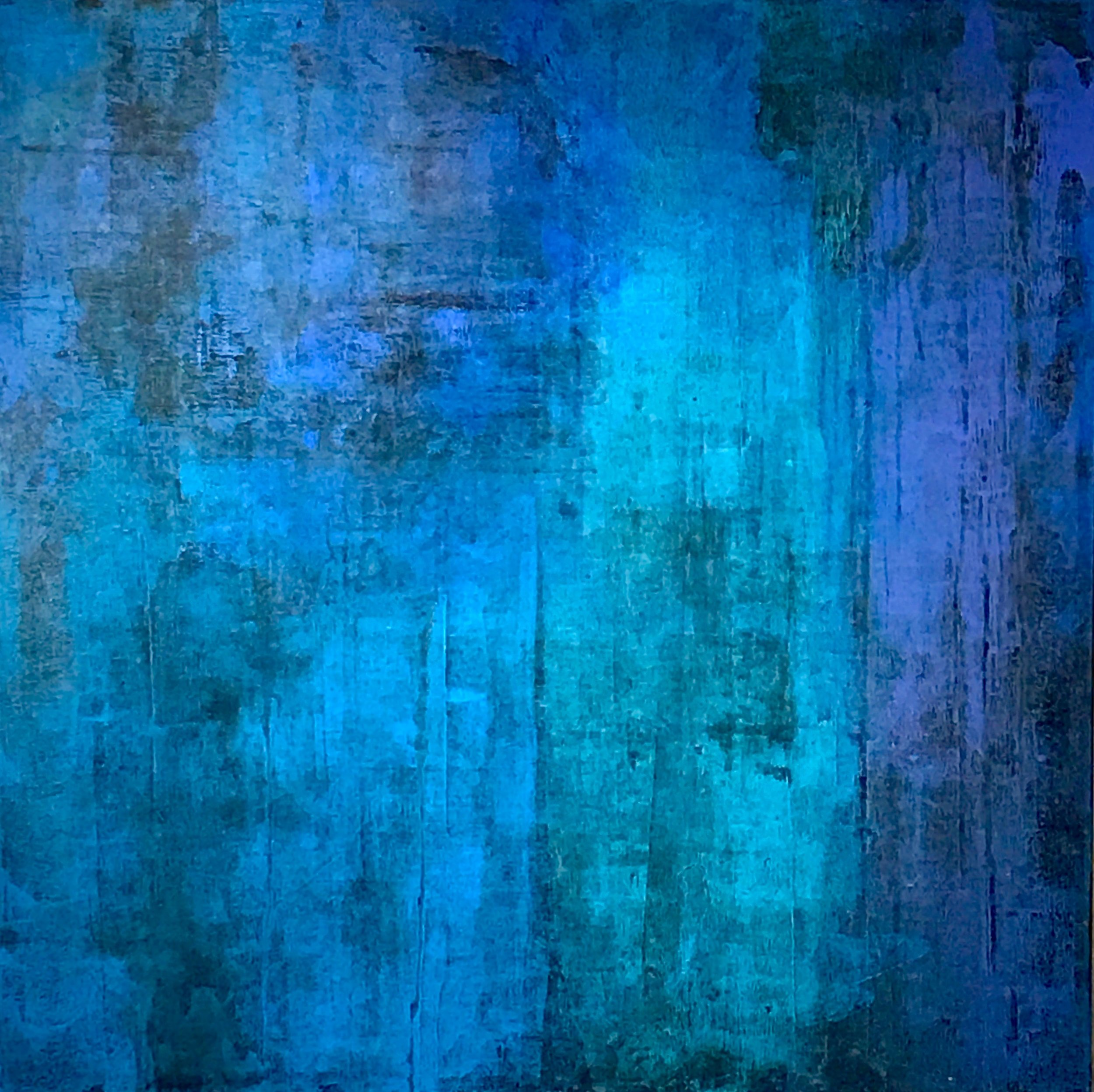 "Blue Series #2 Acrylic on Gessoed Canvas 36""H x 36""W"