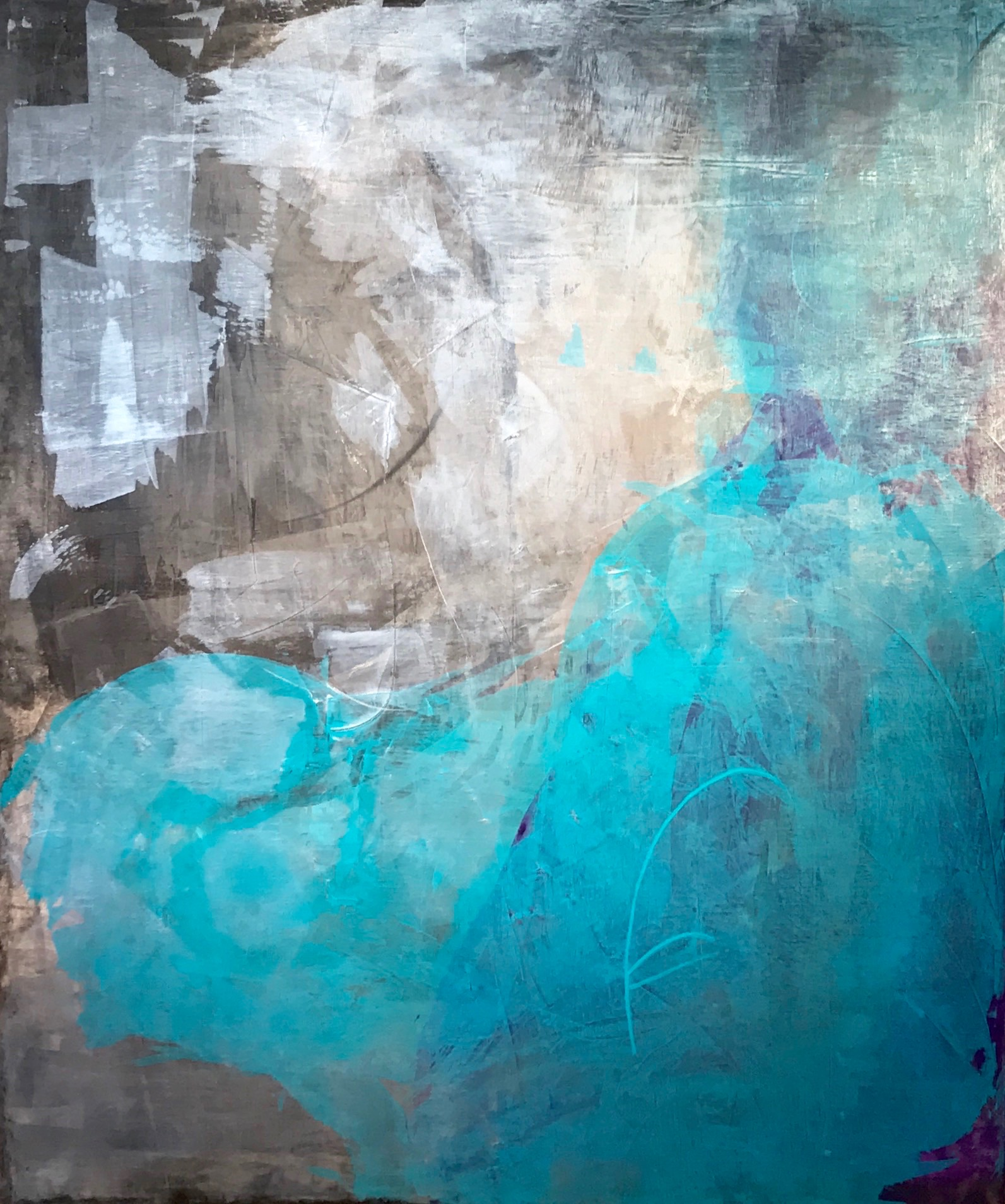 """Untitled Abstract #8 Acrylic on Canvas 60""""H x 50"""" Wide"""