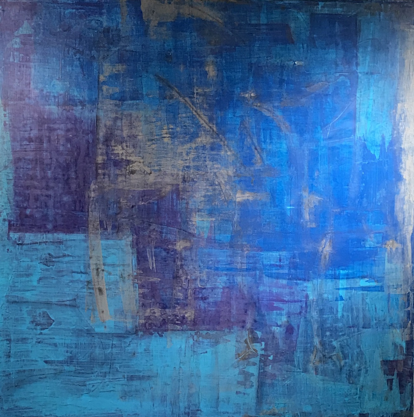 """Untitled Abstract #10 Acrylic on Canvas 48"""" x 48"""""""