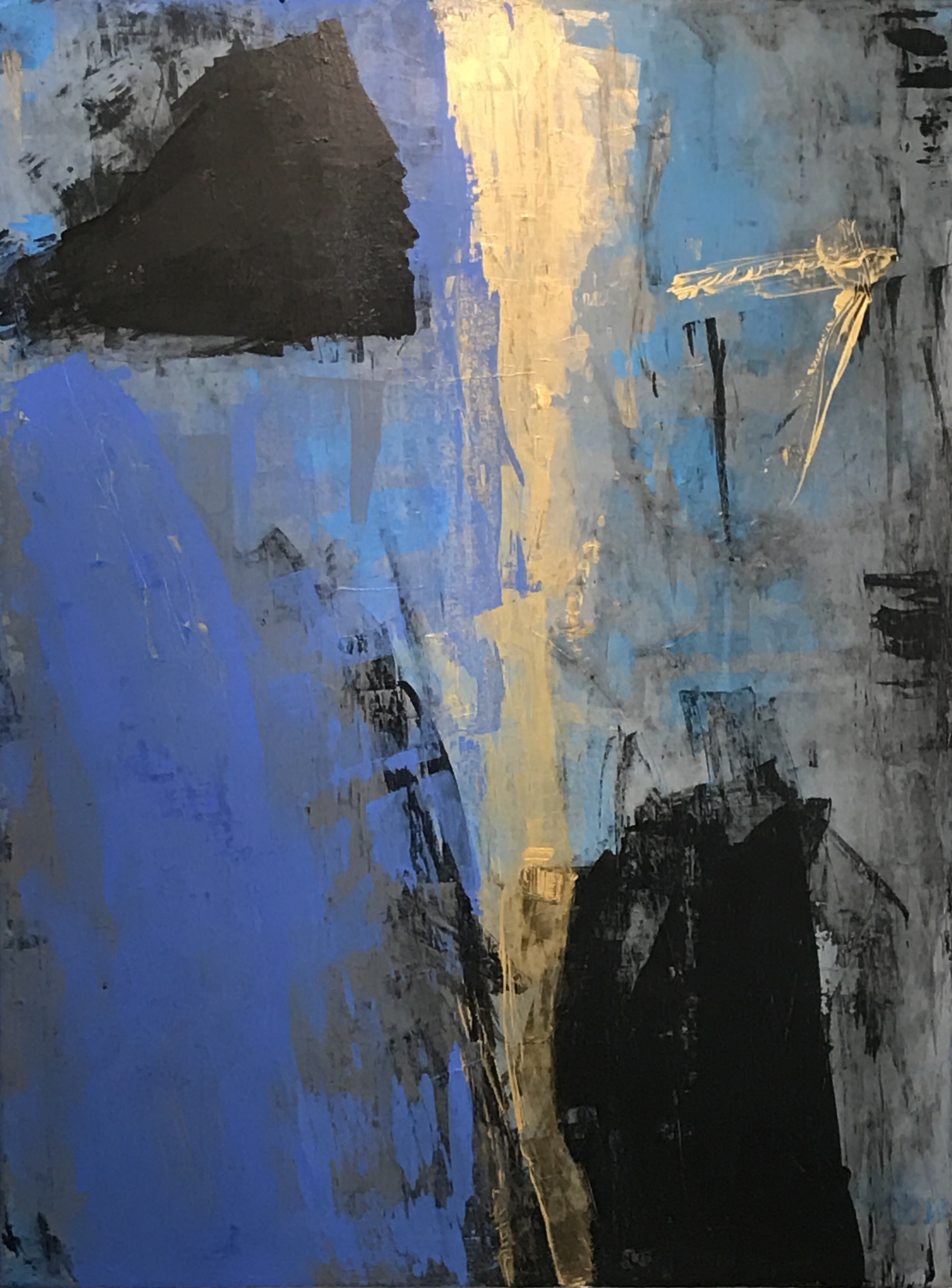 """Untitled Abstract #12 Acrylic on Canvas 48H"""" x 36""""W"""