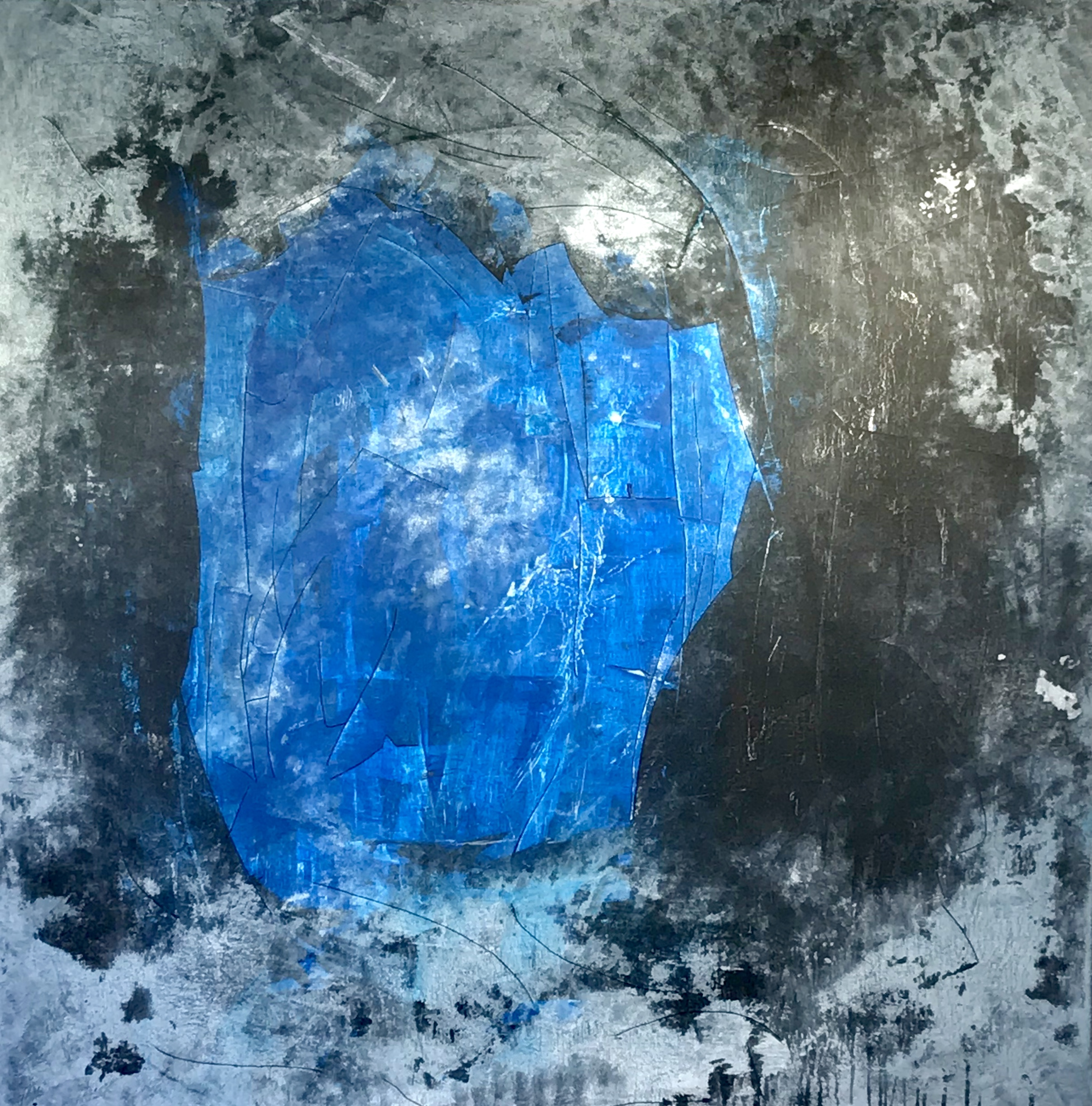 "Untitled Blue Series #5 Acrylic on Canvas 44""H x 44""W"