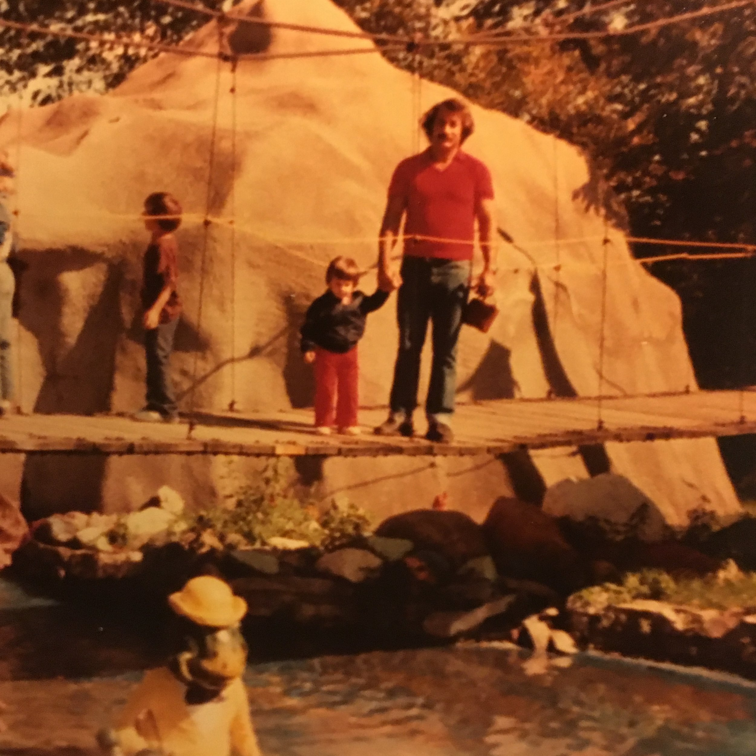 Me and my Daddy. Detroit Zoo? Early Eighties!