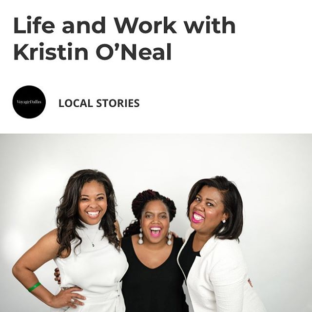 Excited to be featured in this week's issue of @voyagedallas! http://voyagedallas.com/interview/life-work-kristin-oneal/