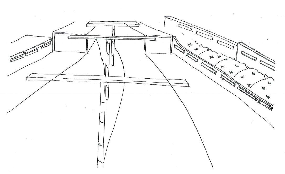 Study Sketch of Roadway Grade Separation