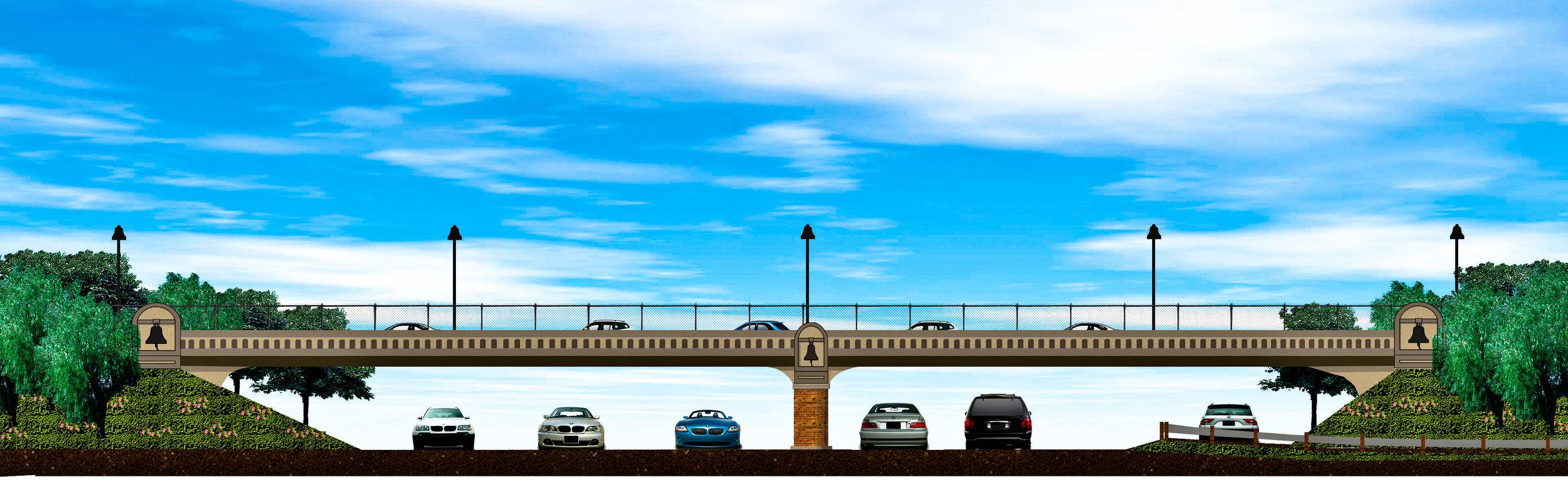 I-5 and Ortega Bridge - Elevation B concept (01-16-2008).jpg