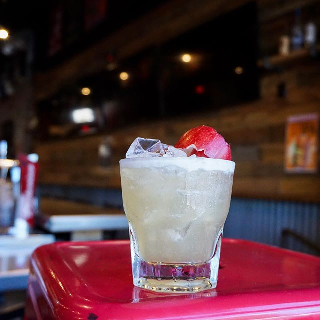 We heard tomorrow's the first day of school... wanna pre-game with some Teacher's Juice tonight? 😉  This cocktail will be available all month long! @bulleit Bourbon Fresh lemon juice House made simple syrup Organic apple juice Egg whites for some added creaminess