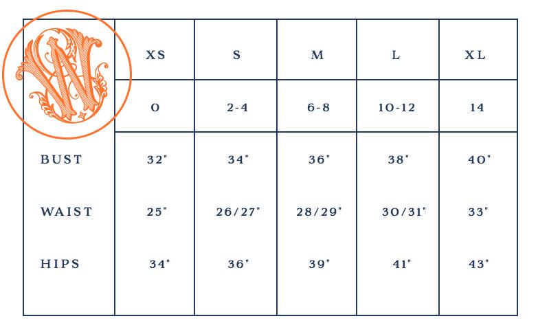 EWD Size Chart