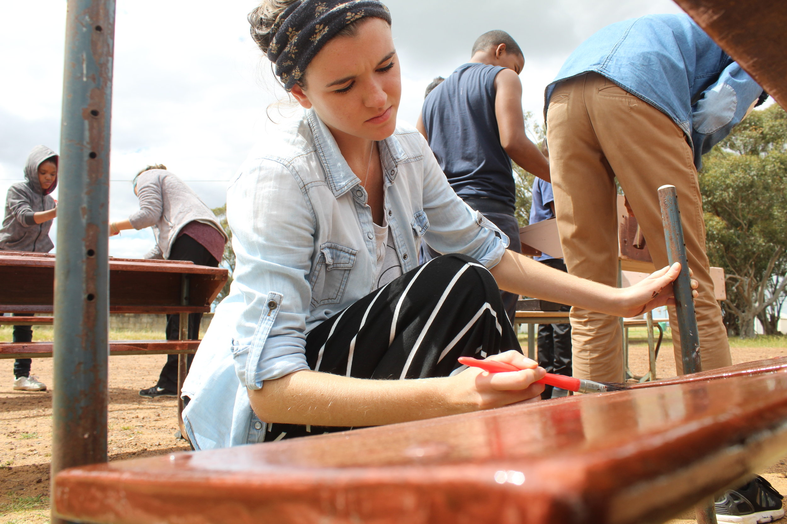 Darling, South Africa - Our team in 2017 helped to dust, sand, and paint more than 30 desks for the school kids to use.