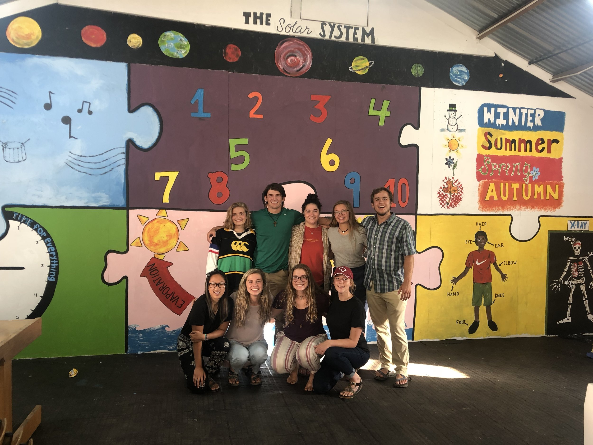Darling, South Africa - Our 2018 team painted all four walls in one of the classrooms for the farm school kids.