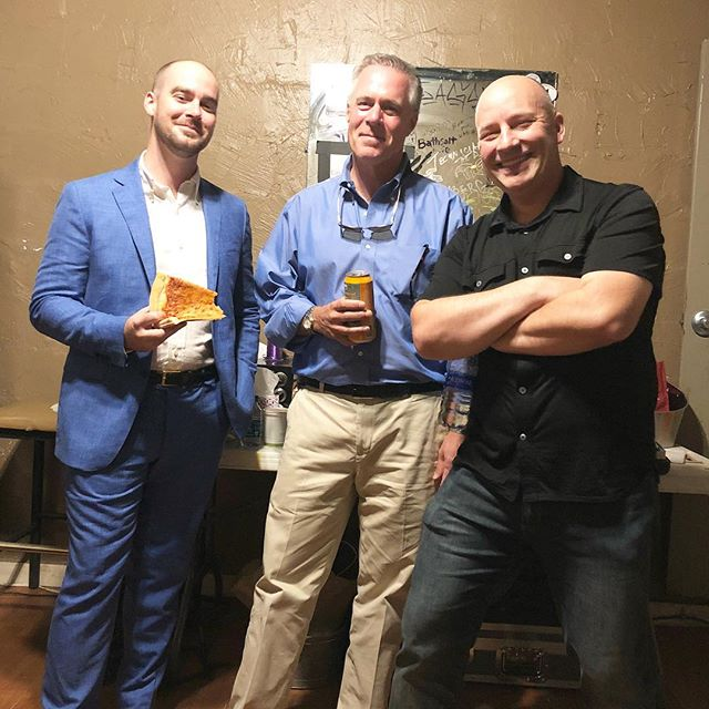 Green Room guy time - presenters @denimbuffalo Dan Jackson and Mike Capps . . . . #tedxraleigh #tedxraleigh2018 #downtownraleigh #raleighnc
