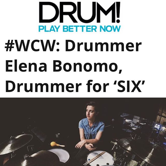 Beyond grateful to have a feature in @drummag! Thank you so much to everyone for all of your support, you guys ROCK! Link in bio ^^ . . . . . #SixTheMusical #LadiesInWaiting #Drummer #femaledrummer #vicfirth #yamahadrums #remo #sabian #drummergirl @americanrep @yamahadrumsofficial @sabiancymbals_official @remopercussion #drummag #drumuniversity #WCW #womancrushwednesday