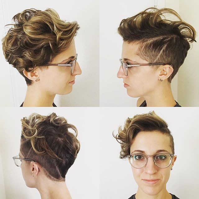 Thank you so much @alyse_salonboston for this awesome multi-dimensional haircut and color! Loving it! #pixie #shorthair . . . . #Boston #JamesJosephSalon #pixiehaircut #baylage #pixiecut #highlights