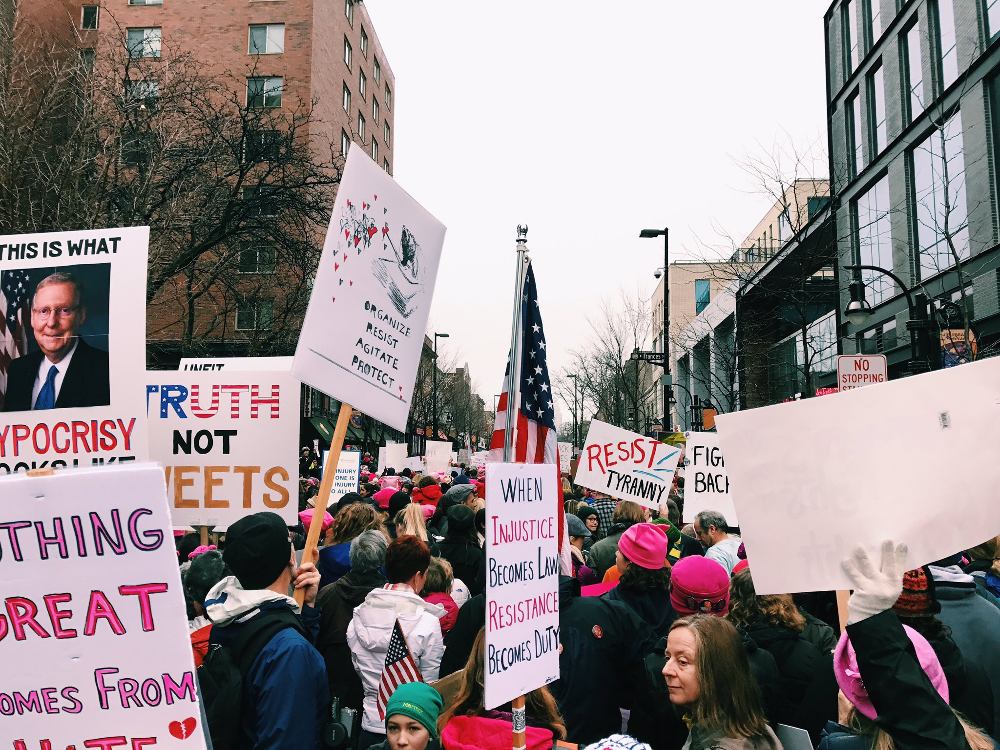 Women's March on Madison. (Picture by Sabrina Johnkins)