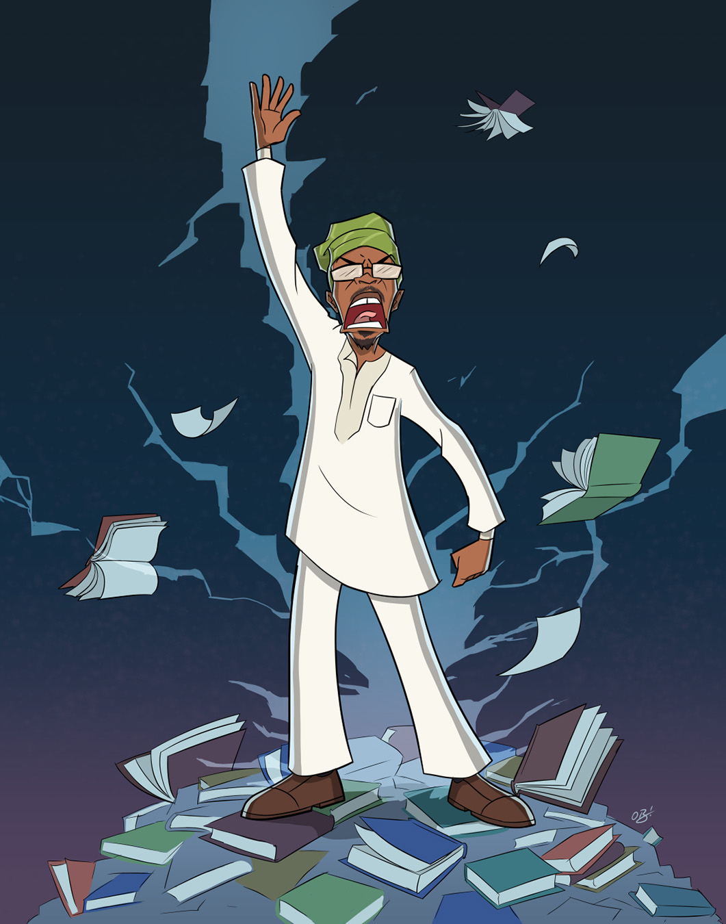 Obi Arisukwu uses his skill to bring more representation into the comic world. (Art by Obi Arisukwu)