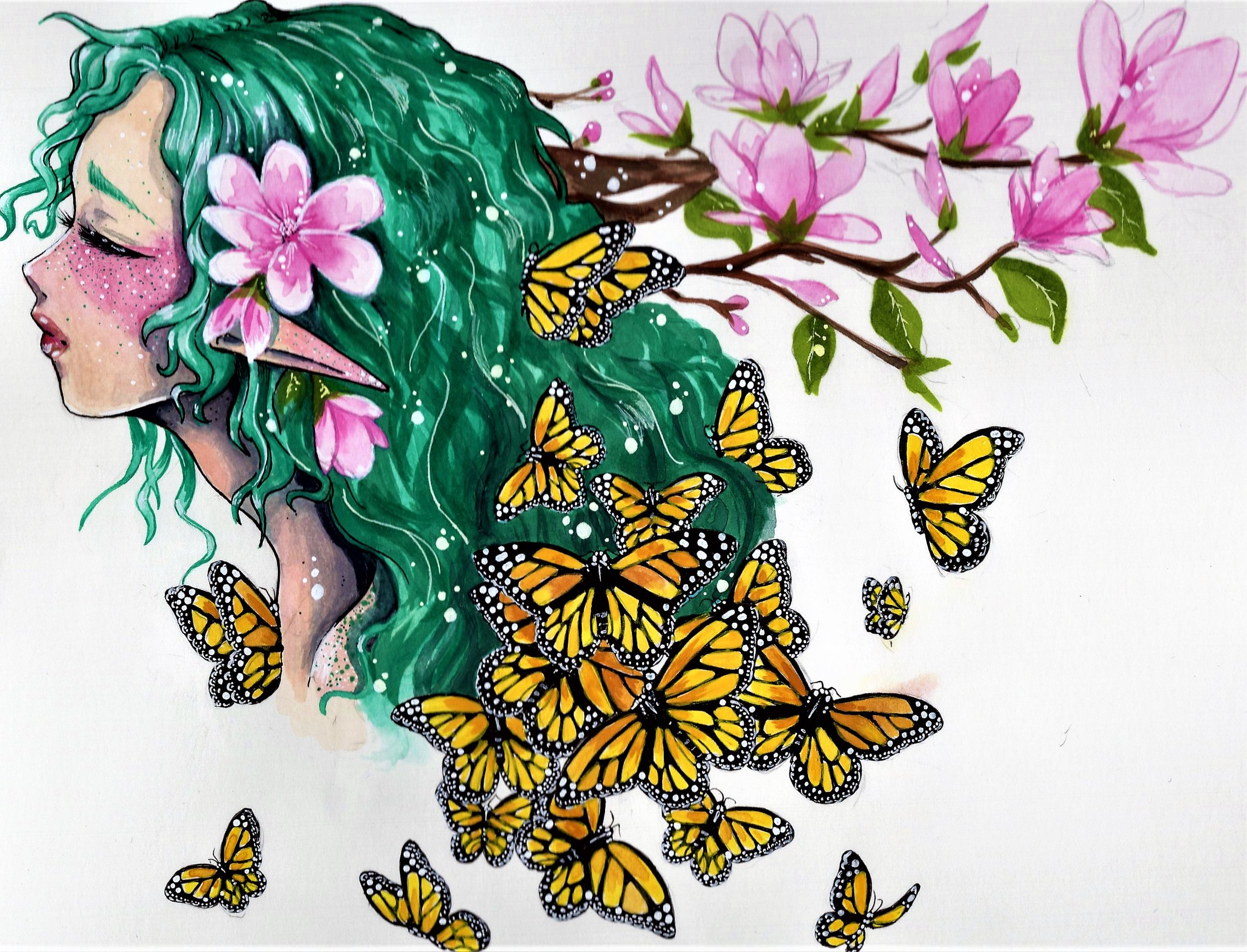 Butterflies are a recurring animal in April Elizabeth's art. (Painting by April Elizabeth)