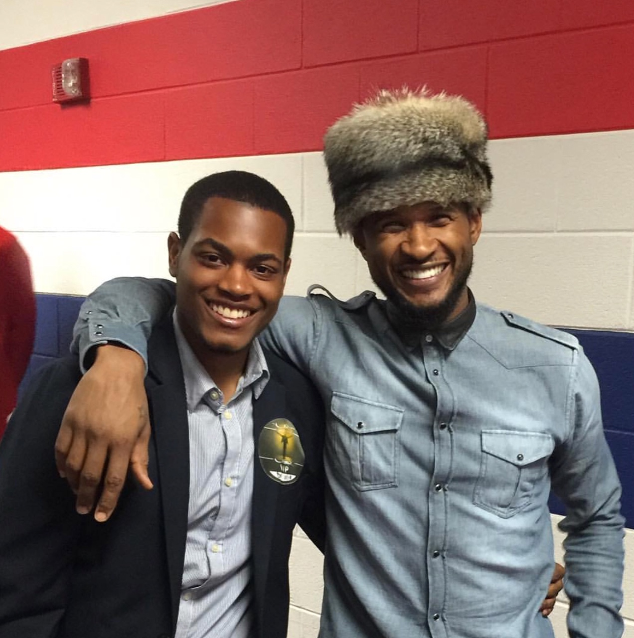 Ammon and Usher Raymond. (Picture provided by Ammon Lyle)