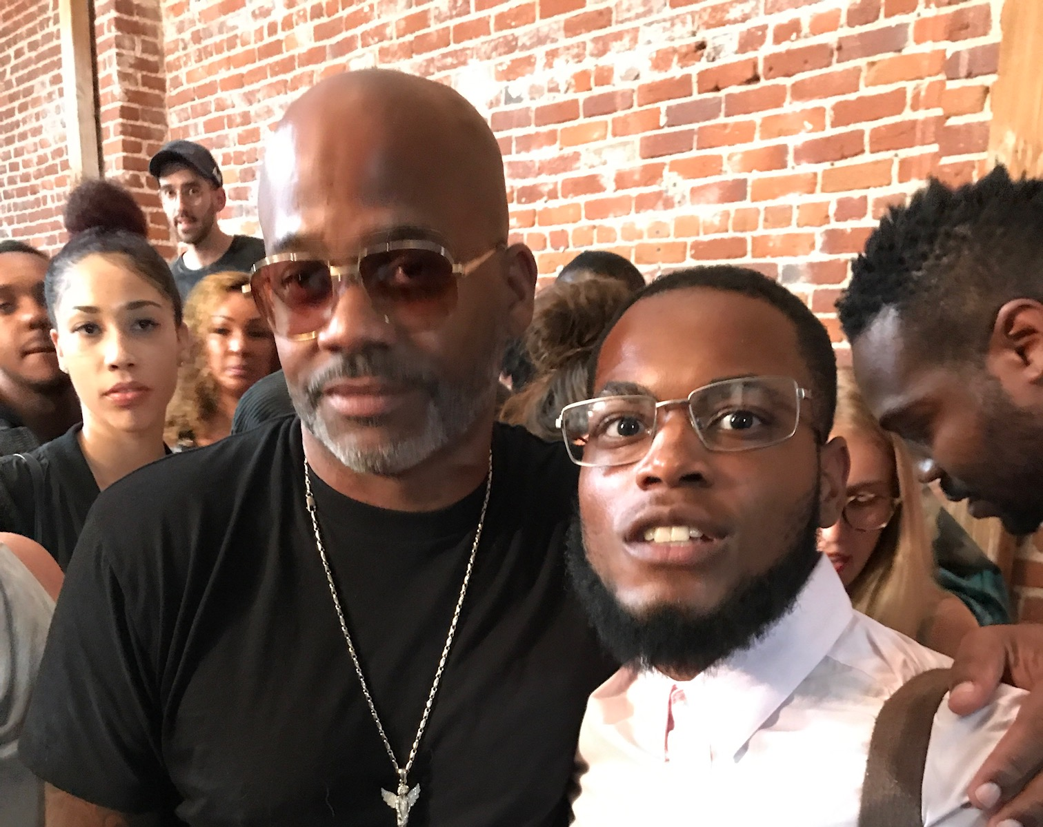 Ammon and Dame Dash—Jay-Z's ex business partner. (Picture provided by Ammon Lyle)