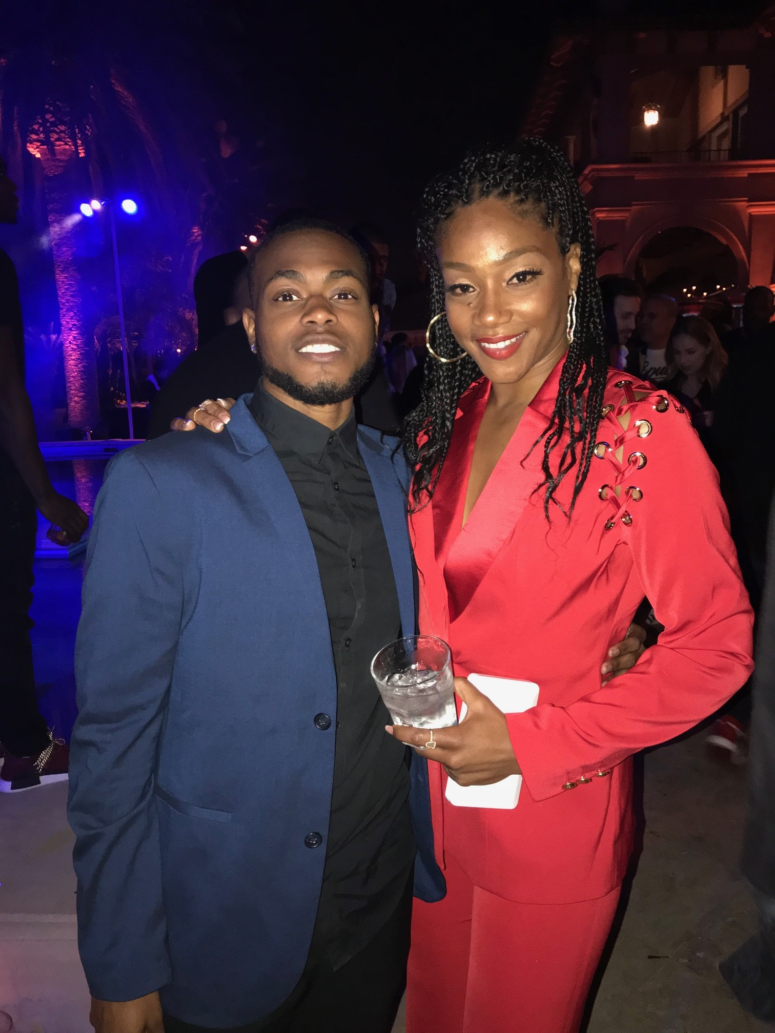Ammon and Tiffany Haddish. (Picture provided by Ammon Lyle)