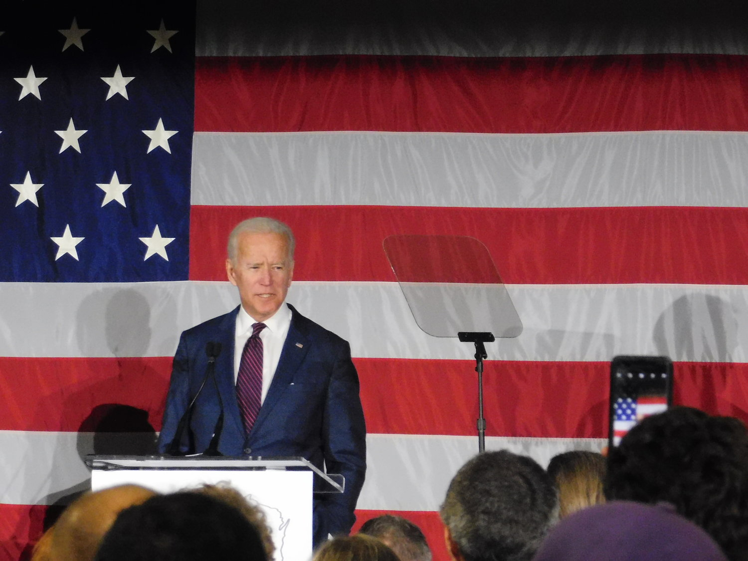Joe Biden came to Milwaukee to show his support for Wisconsin's democrats. (Picture by Nyesha Stone)