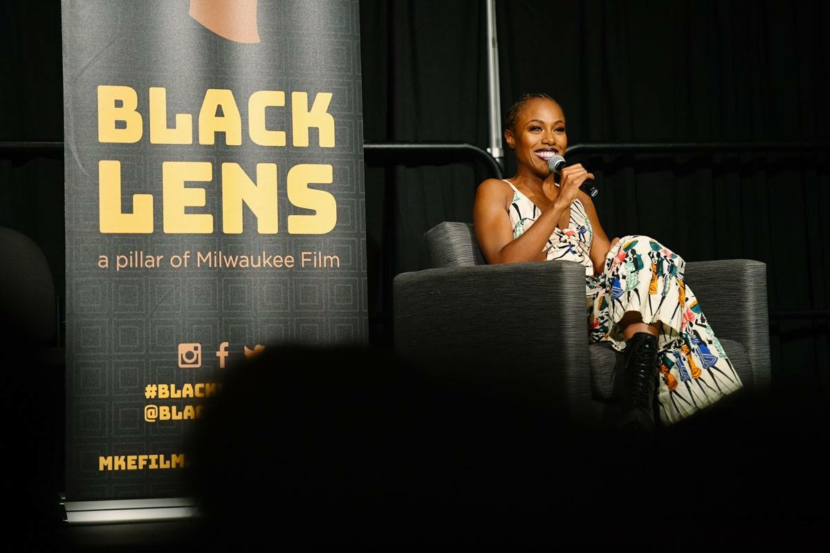 Dewanda Wise visits University of Wisconsin-Milwaukee. (Picture taken by Jake Hill for Milwaukee Film Festival)