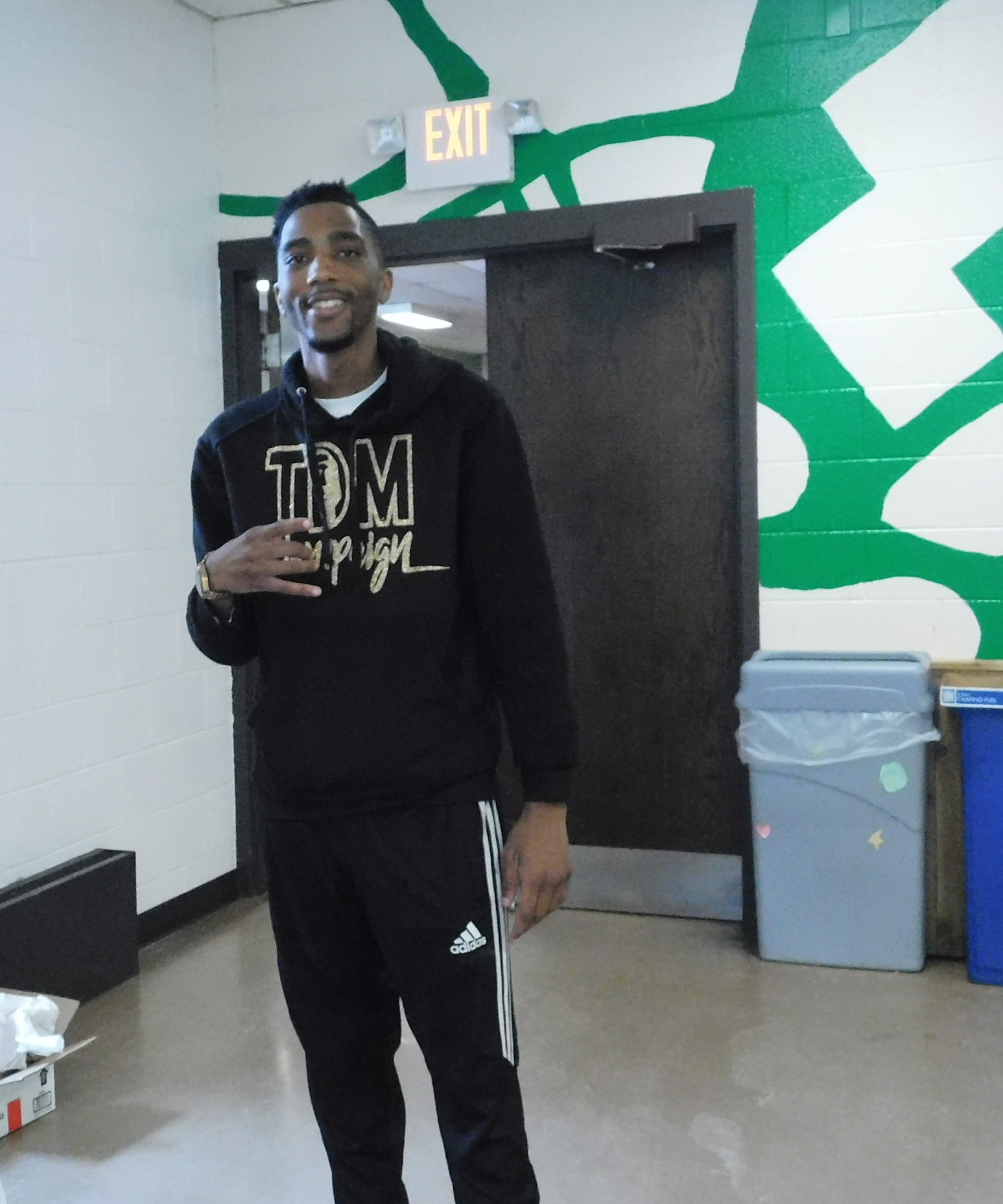 Antonio Holmes said as long as he makes an impact on the individuals who come to his events, it doesn't matter how many people show up. (Picture by Nyesha Stone)