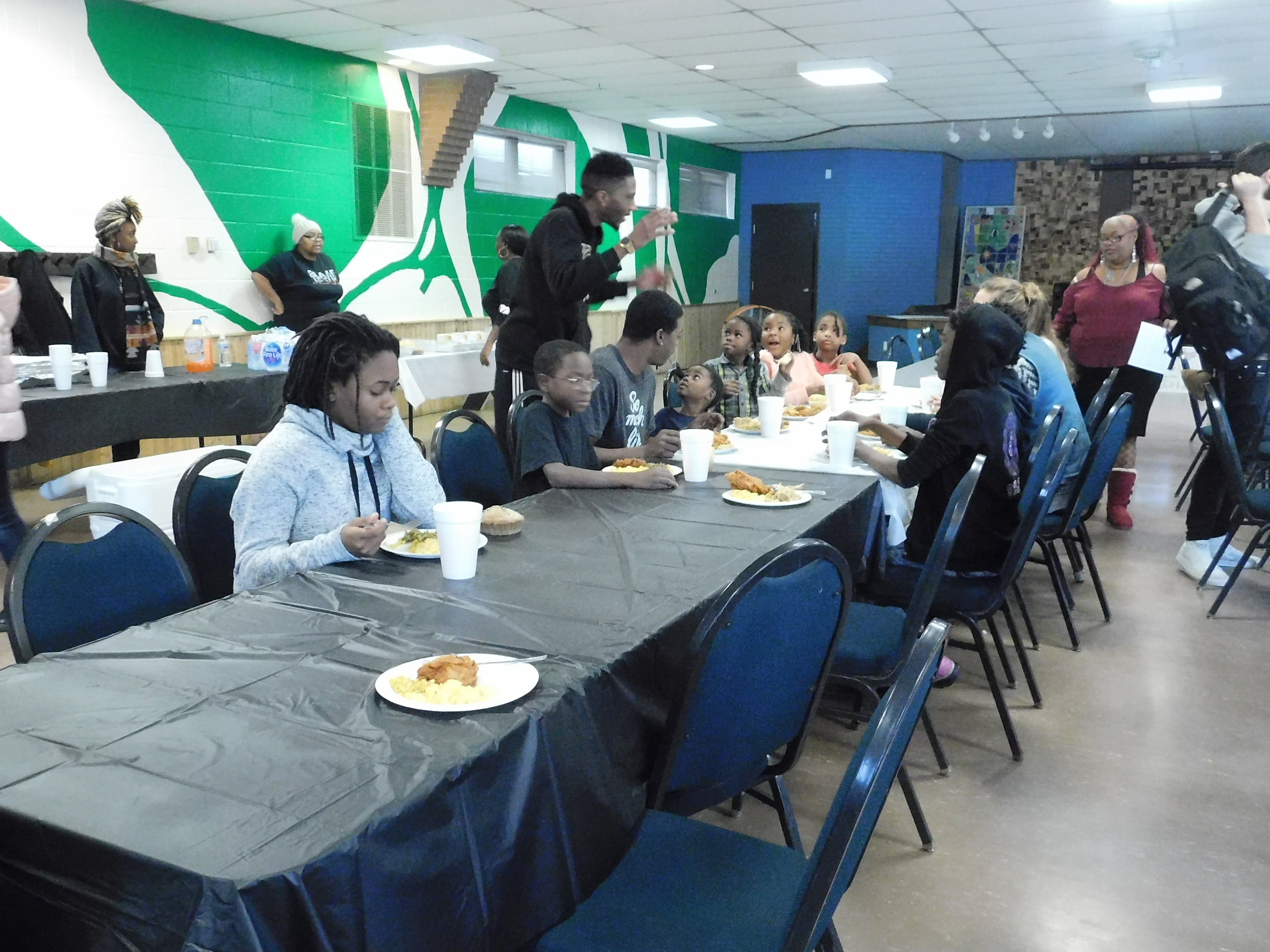 Everyone was welcomed to enjoy in the food provided by Antonio Holmes. (Picture by Nyesha Stone)