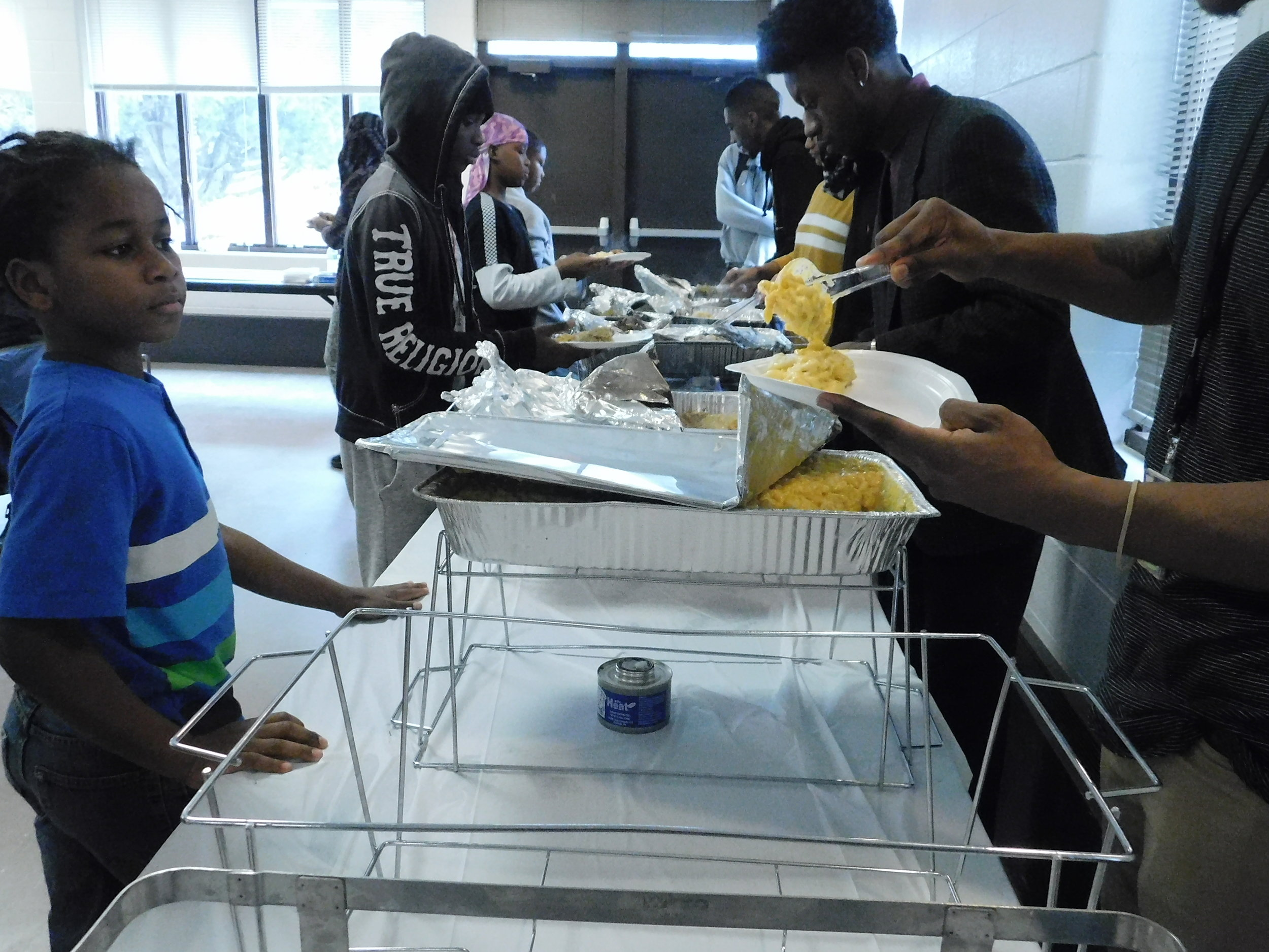 Homemade macaroni was available at the dinner. (Picture by Nyesha Stone)