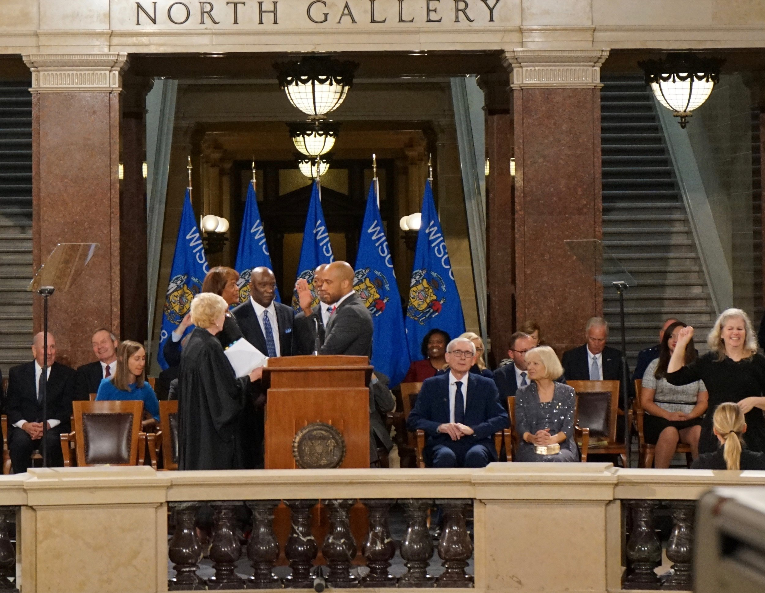 Mandela Barnes becomes Wisconsin's 45th Lt. Gov. (Picture by Nyesha Stone)