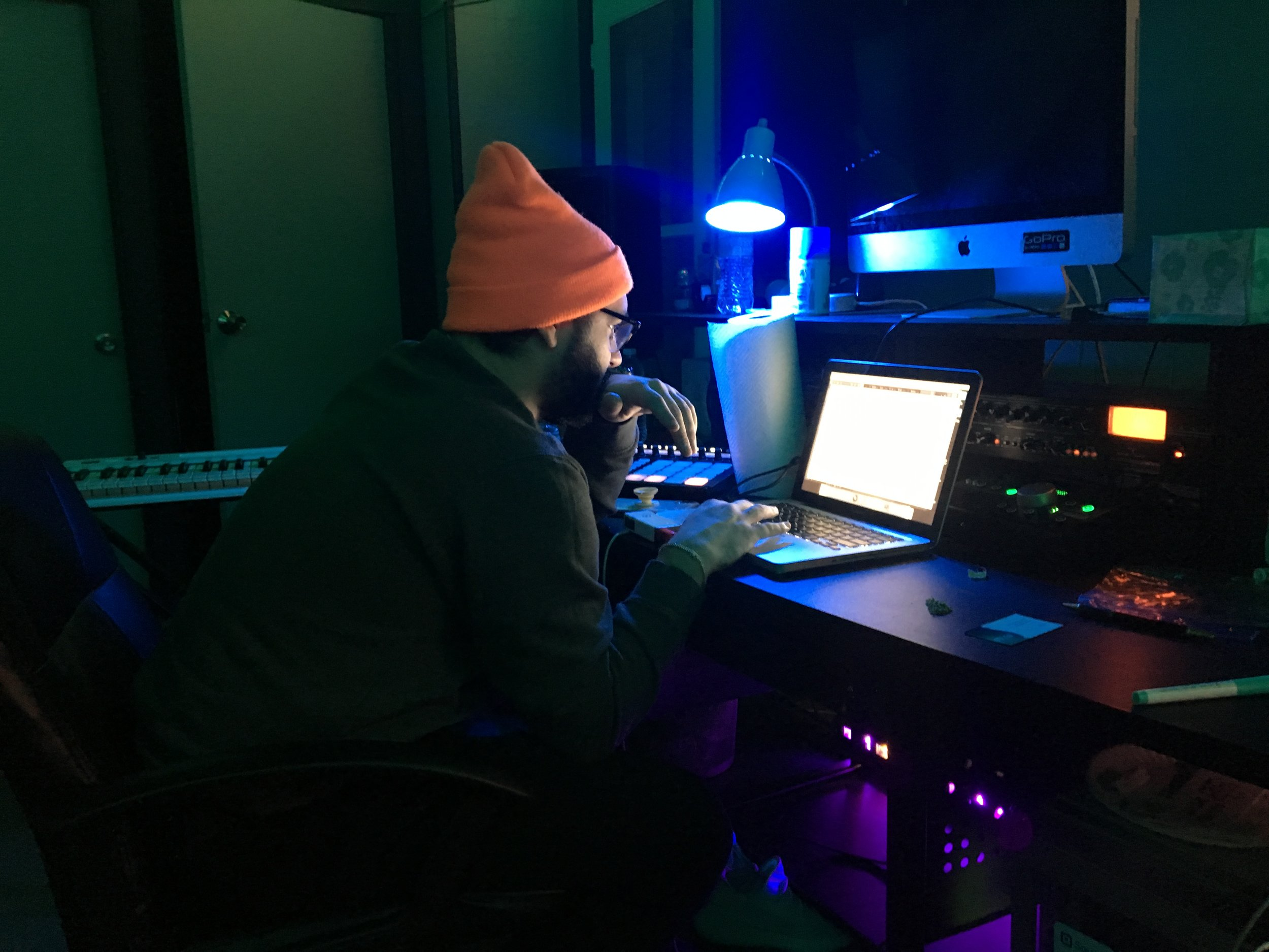 Main.Key making a beat. (Picture by Dylan Deprey)