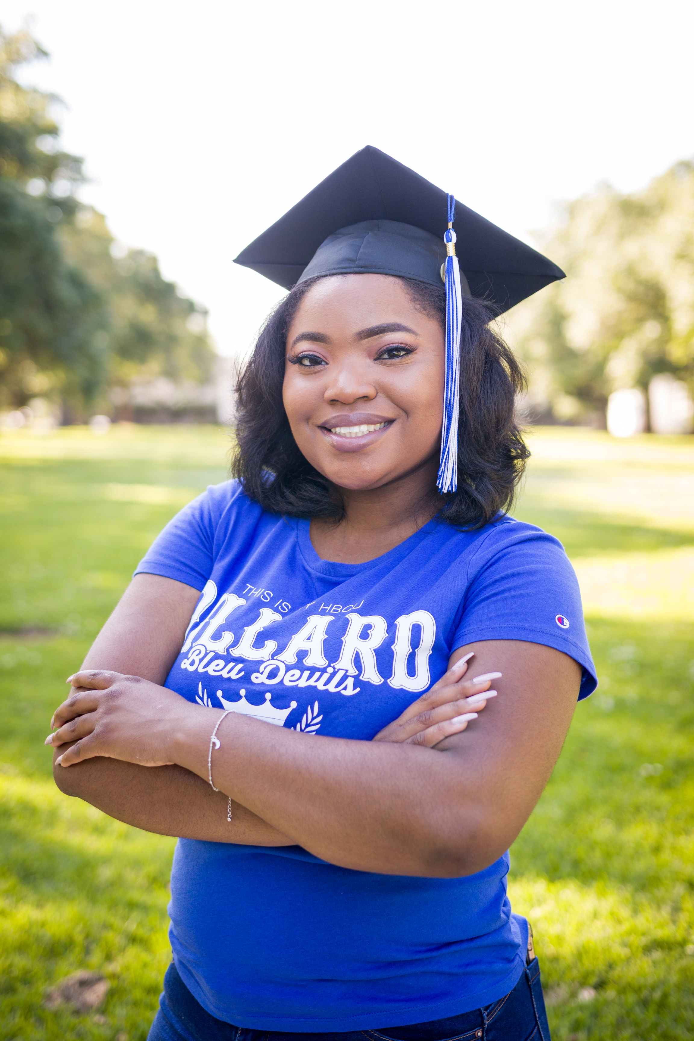 Adrienne Harper graduates today May 11, 2019 from Dillard University. (Picture by Joshua Williams IV)