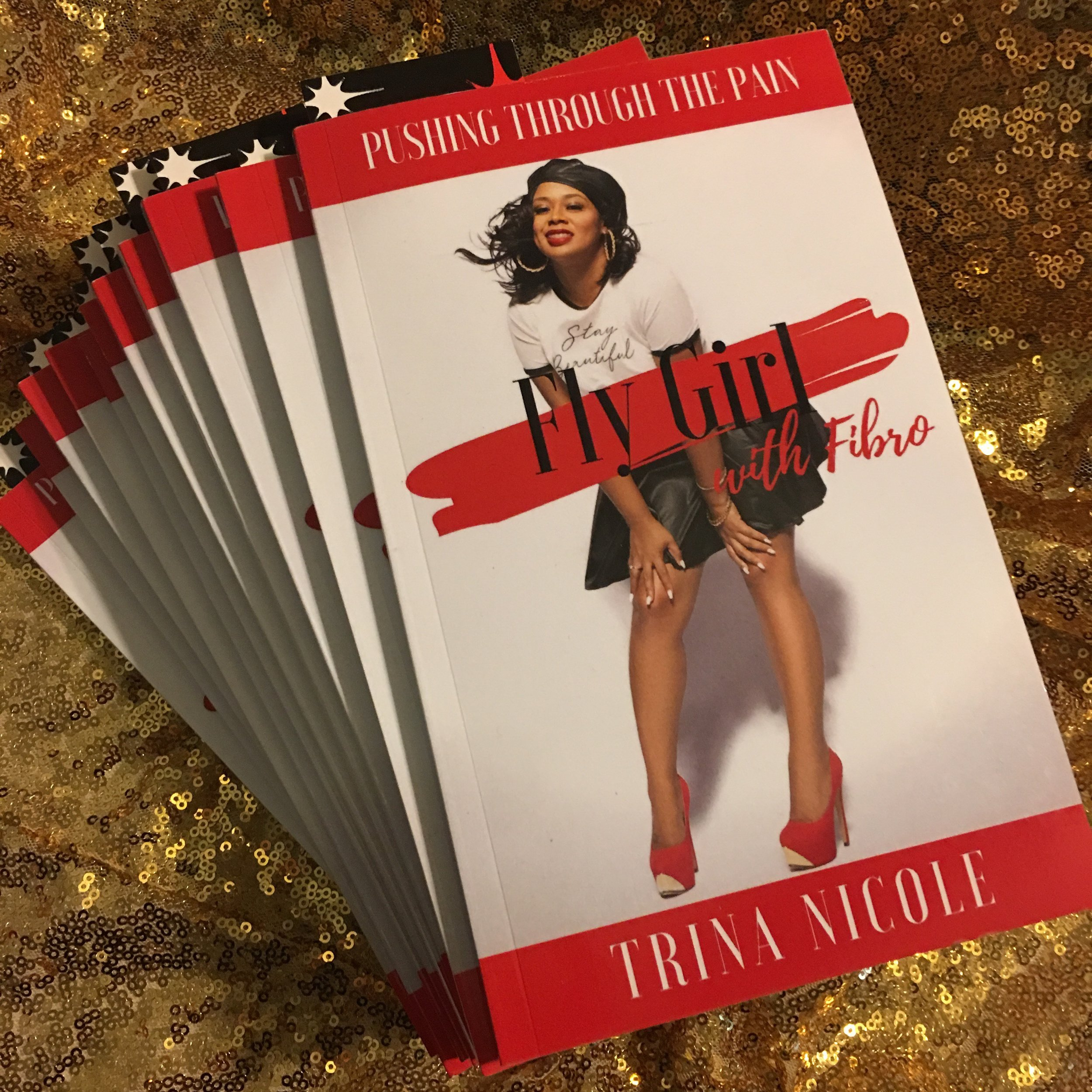 Trina Nicole's book Fly Girl with Fibro. (Picture provided by Trina Nicole)