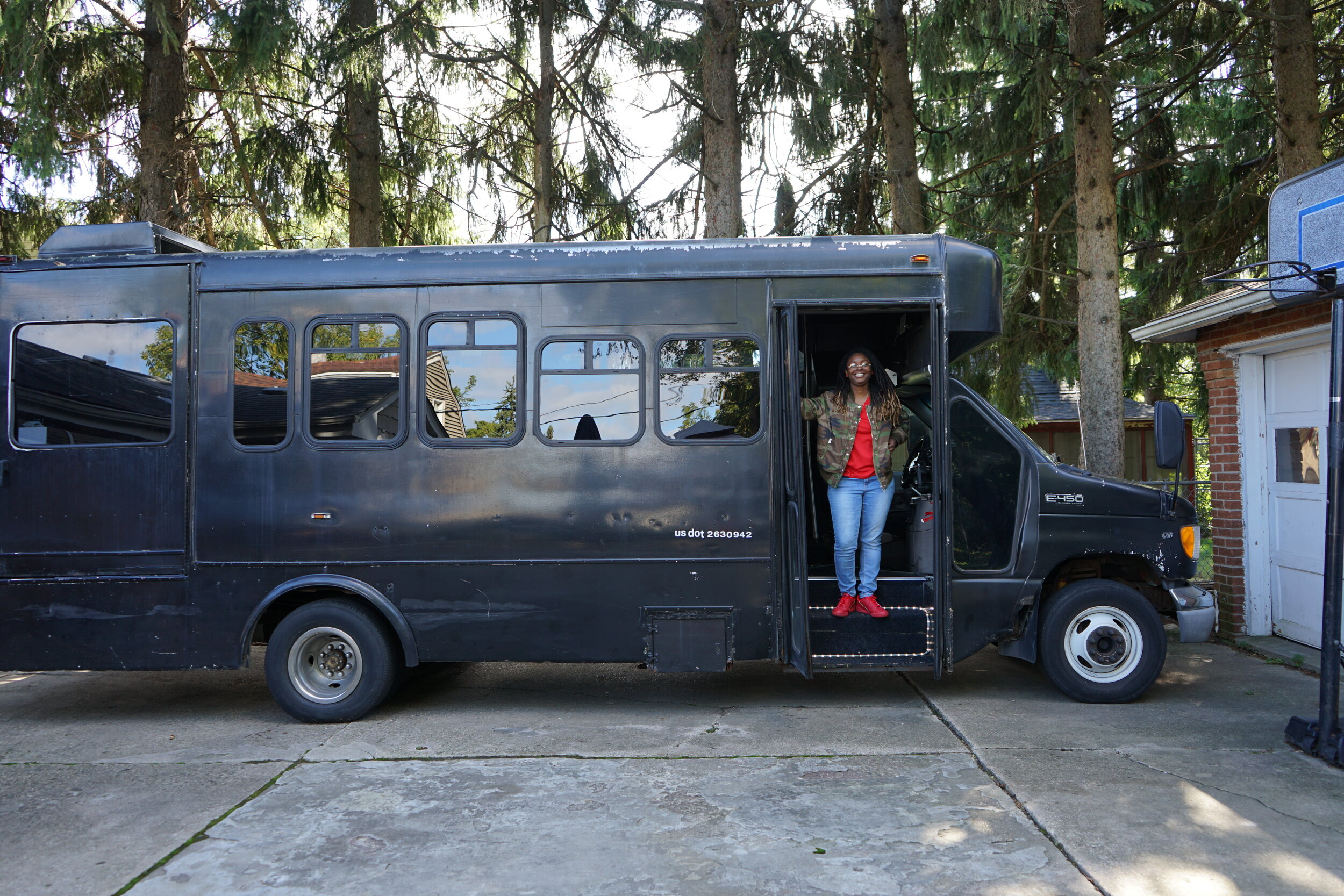 Krystal Griffin wanted to make party buses more affordable for people in Milwaukee, so she bought her own. (Picture by Nyesha Stone)