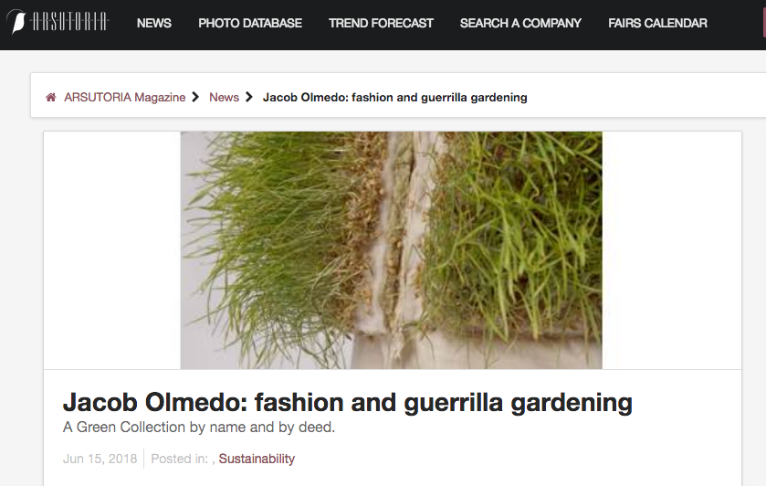 http://arsutoriamagazine.com/jacob-olmedo-fashion-and-guerrilla-gardening/