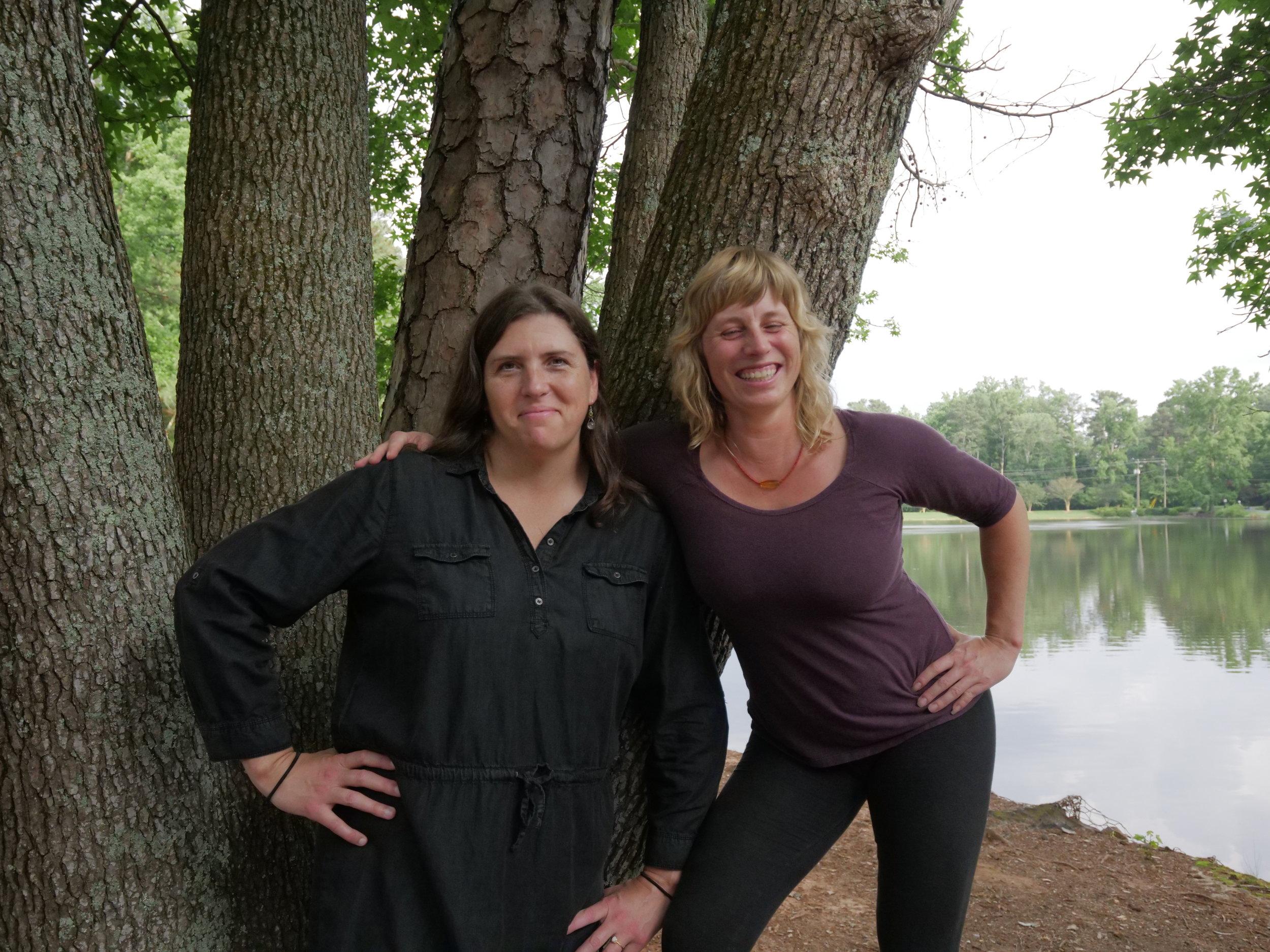 Maja and me lake pic #2.JPG