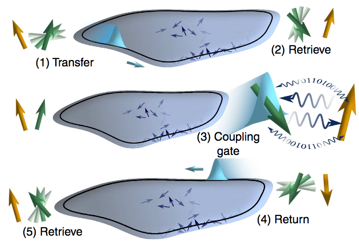 Topologically protected quantum state transfer in a chiral spin liquid