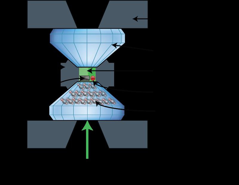 Diamond anvil cell schematic