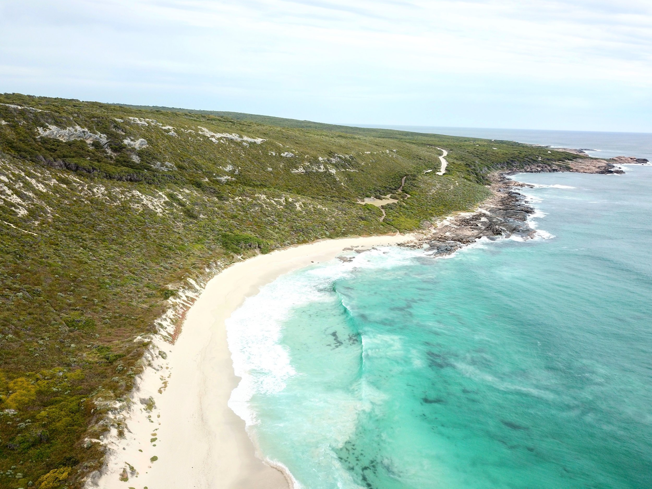 View from the top of the Contos Cliffs, along the Cape to Cape track.