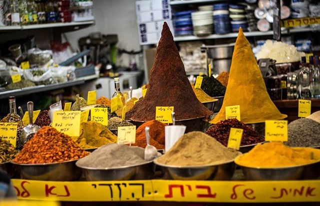 """We wandered the bustling Mahane Yehuda market, nibbling on dates and olives, gawking at the impossibly-tall spice towers, sampling pinches of this and that before escaping the persistent hawkers."" Excerpted from my essay on discovering identity through food in Israel, currently running in the Forward. Link in profile!  Have you ever been to Mahane Yehuda market? What did you think?  _______________________________________________ . . . . .  #liveauthentic #foodbeast #eeeeeats #eatfamous #feedfeed #dailyfoodfeed #onthetable #lifeandthyme #f52grams #instapassport #aroundtheworldpix #ig_masterpiece  #flashesofdelight #travelog  #visualmobs #theglobewanderer #forahappymoment #exploringtheglobe #jerusalemoftheday #our_jerusalem #insta_israel #igourisrael #il_instagram #instagram_israel #canonphotos #canoneos #canonrebel #mahaneyehuda #birthright #jewish"