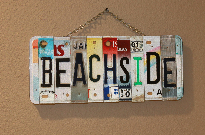 Beachside License Plate