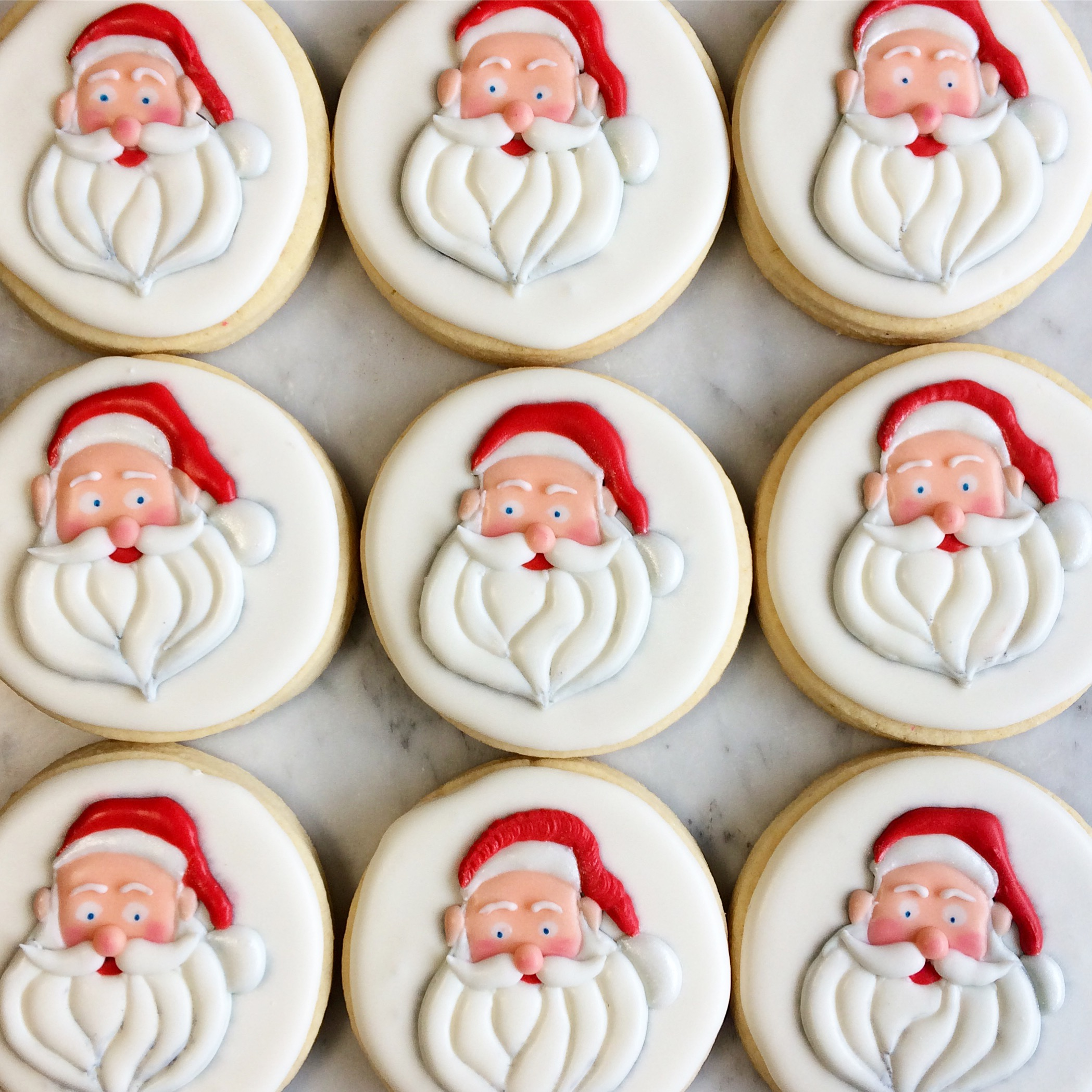 Santa Cookies by Seed Confections