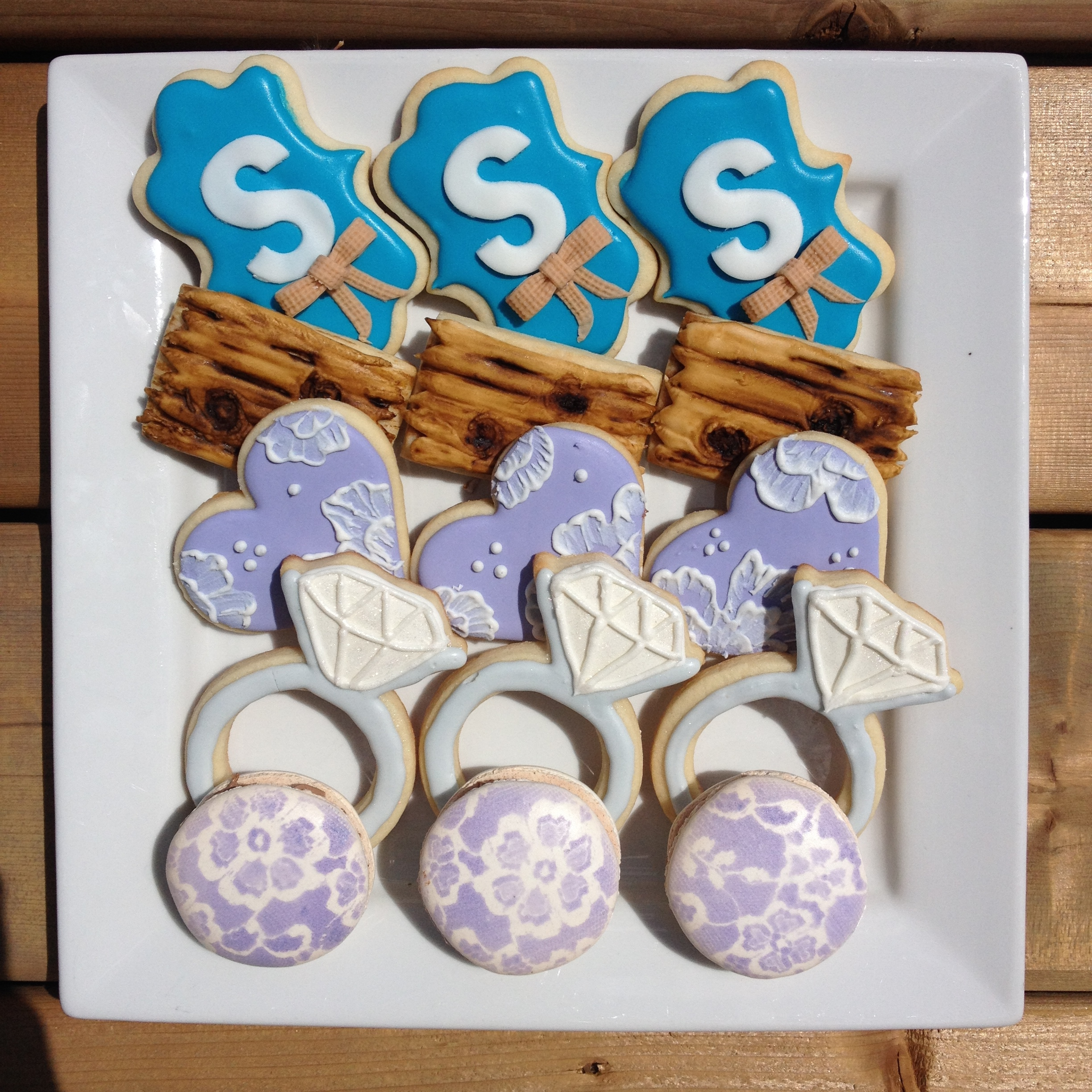 Rustic Engagement Cookies by Seed Confections