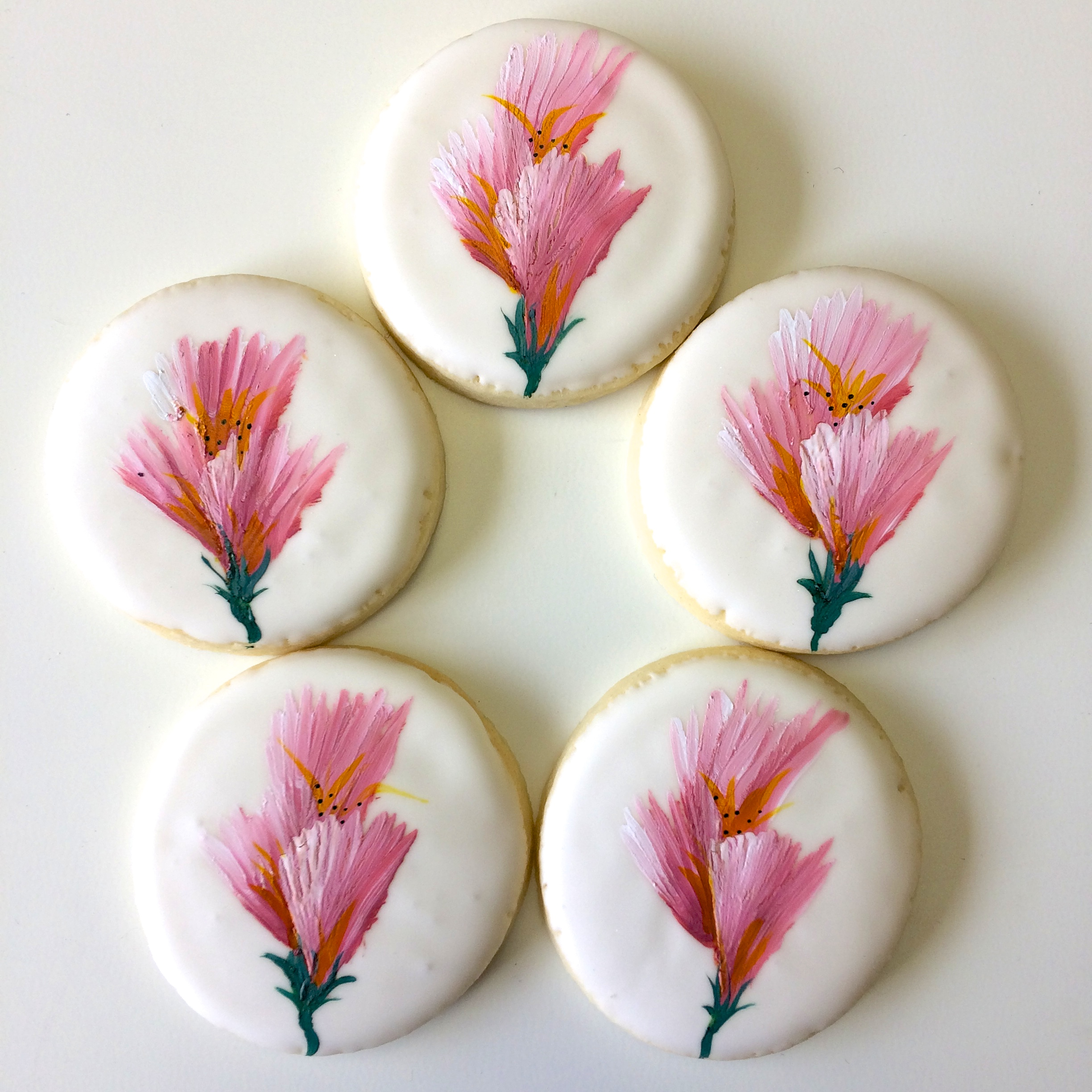 Floral cookies by Seed Confections
