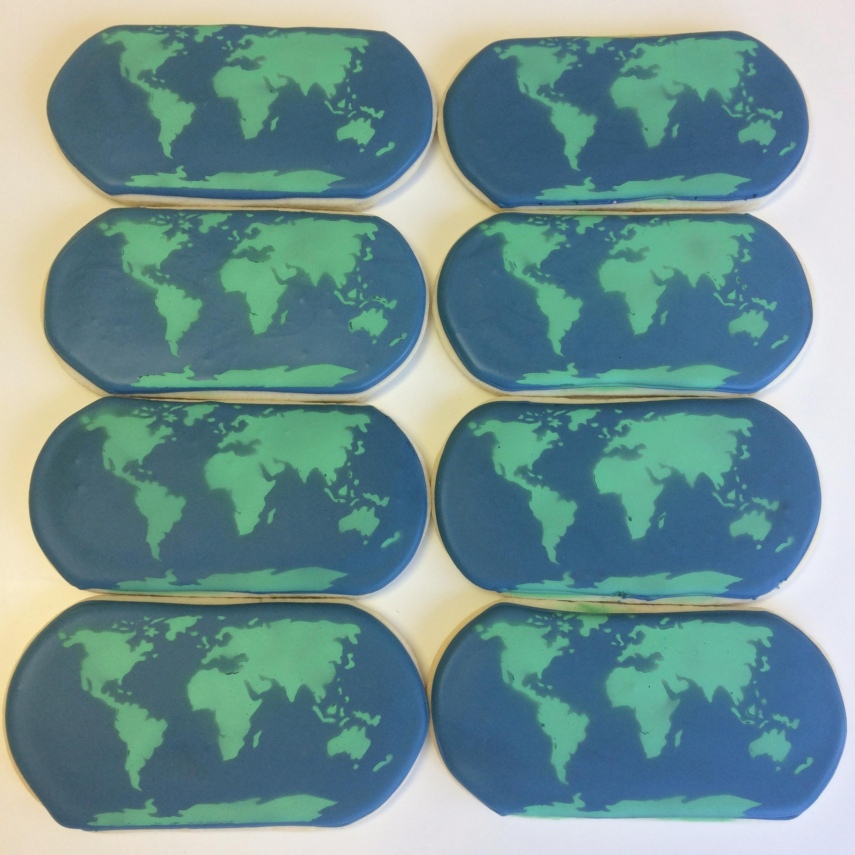 globe cookies